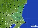 茨城県のアメダス実況(気温)(2018年01月29日)