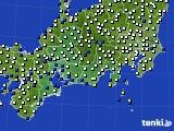 東海地方のアメダス実況(風向・風速)(2018年01月29日)