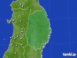 岩手県のアメダス実況(降水量)(2018年01月30日)