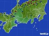 東海地方のアメダス実況(積雪深)(2018年01月30日)