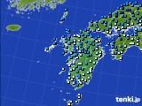 九州地方のアメダス実況(気温)(2018年01月30日)
