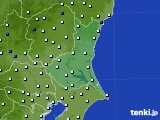 茨城県のアメダス実況(風向・風速)(2018年01月30日)