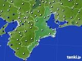 2018年01月30日の三重県のアメダス(風向・風速)