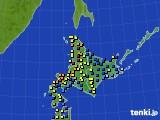 北海道地方のアメダス実況(積雪深)(2018年01月31日)