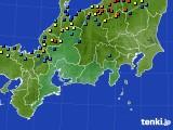 東海地方のアメダス実況(積雪深)(2018年01月31日)