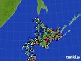 北海道地方のアメダス実況(日照時間)(2018年01月31日)
