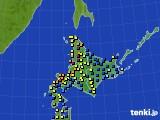 北海道地方のアメダス実況(積雪深)(2018年02月01日)