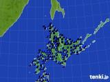 北海道地方のアメダス実況(気温)(2018年02月01日)