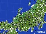北陸地方のアメダス実況(風向・風速)(2018年02月01日)