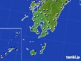 鹿児島県のアメダス実況(風向・風速)(2018年02月01日)
