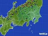 関東・甲信地方のアメダス実況(積雪深)(2018年02月02日)
