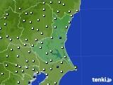 茨城県のアメダス実況(風向・風速)(2018年02月02日)