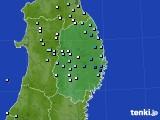 岩手県のアメダス実況(降水量)(2018年02月03日)