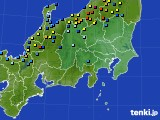 関東・甲信地方のアメダス実況(積雪深)(2018年02月03日)