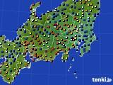 関東・甲信地方のアメダス実況(日照時間)(2018年02月03日)