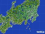 関東・甲信地方のアメダス実況(気温)(2018年02月03日)