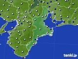 2018年02月03日の三重県のアメダス(風向・風速)
