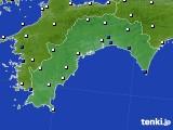 高知県のアメダス実況(風向・風速)(2018年02月03日)