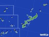 沖縄県のアメダス実況(風向・風速)(2018年02月03日)