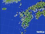 九州地方のアメダス実況(風向・風速)(2018年02月04日)