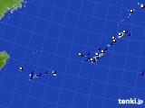 2018年02月05日の沖縄地方のアメダス(風向・風速)