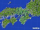近畿地方のアメダス実況(風向・風速)(2018年02月06日)