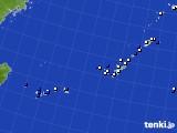2018年02月08日の沖縄地方のアメダス(風向・風速)