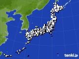 2018年02月10日のアメダス(風向・風速)