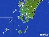 鹿児島県のアメダス実況(風向・風速)(2018年02月10日)