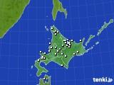 北海道地方のアメダス実況(降水量)(2018年02月11日)