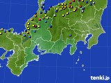 東海地方のアメダス実況(積雪深)(2018年02月11日)