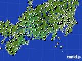 東海地方のアメダス実況(風向・風速)(2018年02月11日)