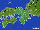 近畿地方のアメダス実況(積雪深)(2018年02月12日)