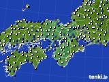 近畿地方のアメダス実況(風向・風速)(2018年02月12日)