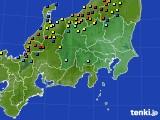 関東・甲信地方のアメダス実況(積雪深)(2018年02月13日)