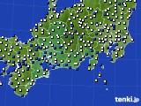 東海地方のアメダス実況(風向・風速)(2018年02月13日)