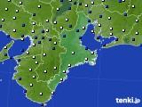 2018年02月13日の三重県のアメダス(風向・風速)