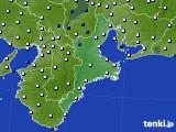 2018年02月14日の三重県のアメダス(風向・風速)