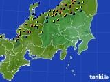 関東・甲信地方のアメダス実況(積雪深)(2018年02月15日)