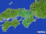 近畿地方のアメダス実況(積雪深)(2018年02月15日)