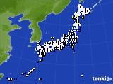 2018年02月15日のアメダス(風向・風速)
