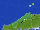 島根県のアメダス実況(積雪深)(2018年02月18日)