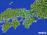 近畿地方のアメダス実況(風向・風速)(2018年02月18日)