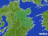 大分県のアメダス実況(降水量)(2018年02月19日)