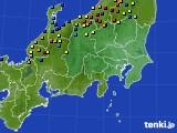 関東・甲信地方のアメダス実況(積雪深)(2018年02月19日)