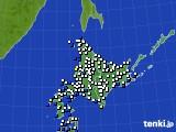 北海道地方のアメダス実況(風向・風速)(2018年02月20日)