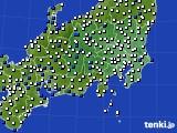 関東・甲信地方のアメダス実況(風向・風速)(2018年02月20日)
