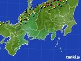 東海地方のアメダス実況(積雪深)(2018年02月21日)
