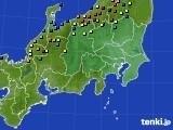 関東・甲信地方のアメダス実況(積雪深)(2018年02月23日)