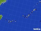 2018年02月23日の沖縄地方のアメダス(風向・風速)